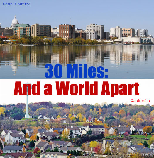 30 miles and a world apart